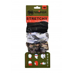 Stretchy Combo (3D,White,Black)