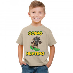 T-Shirt - Going Hunting - Khaki