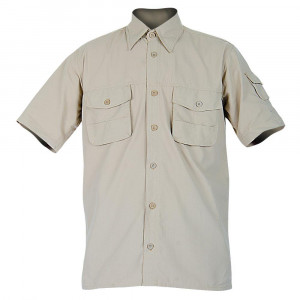Adventure Colour Block Shirt - Khaki