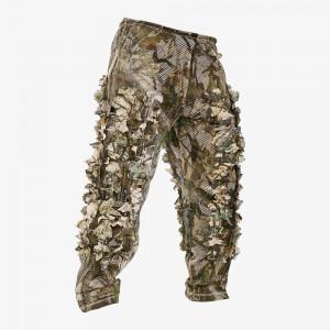 Zip Leafy Pants - 3D