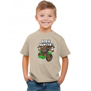T-Shirt - Born Hunter - Khaki