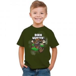 T-Shirt - Born Hunter - Olive